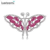 Teemi Free Shipping Newest Charming High Quality Vintage Cubic Zirconia Butterfly Brooch Jewelry Gifts Decorations Pin