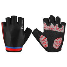 ФОТО half finger sbr palm pad weight lifting gloves unisex road mtb bicycle biking gloves mountain bike riding sports gloves