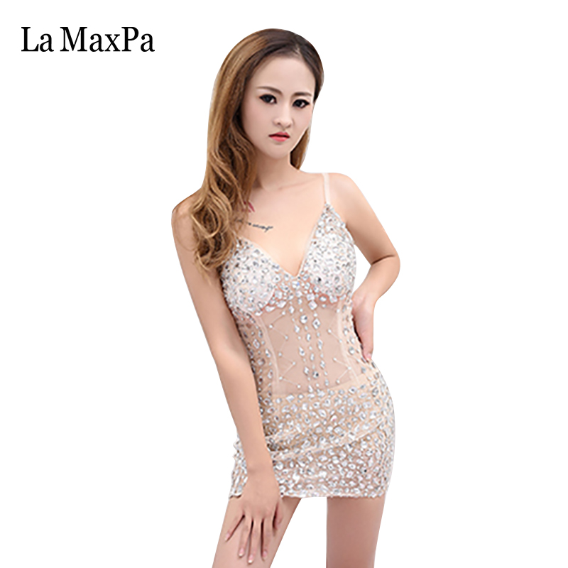 2016 New Arrival Female Singer Costume Sexy Women Perspective Shorts Dress Bar Ds Stage Costume For Singer Dance Outfit 048 Durable Service