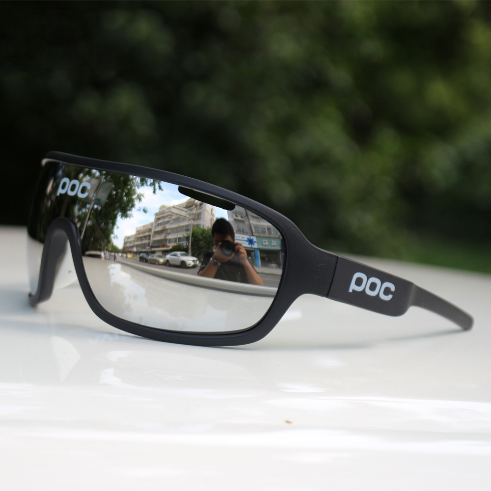 POC 3 Lens Outdoor Cycling Glasses Mountain Bike Goggles Bicycle Sunglasses Men Cycling Eyewear sports sunglasses(China)