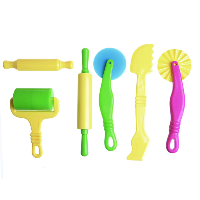 6x Pottery Clay Plasticine Dough Sculpture Modelling Tools Kids Pretend Play Toy-P101 ...