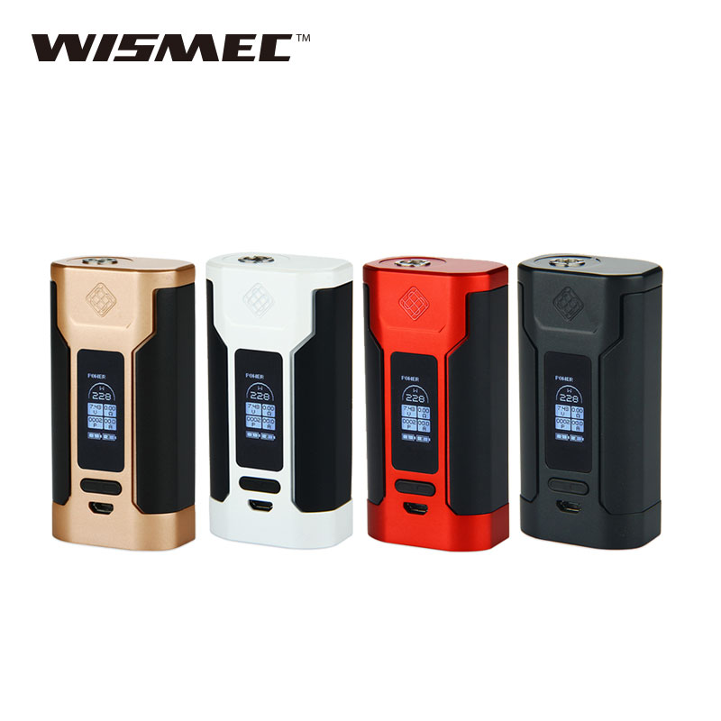 Original WISMEC Predator 228 TC MOD Output of 228W/50A Mod Vape for WISMEC Elabo Atomizer/ 510 Thread E cigarettes W/O Battery n vape a 1