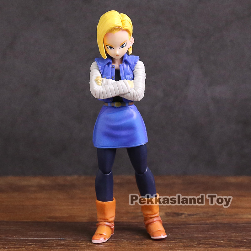 СВЧ S. H. Figuarts Dragon Ball Z Android № 18 ПВХ фигурку Коллекционная модель игрушки ...