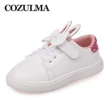 COZULMA Tavaszi gyermekcipők Gyerekcipők Lányok flitteres nyúl fül Kültéri Alkalmi cipő Lányok hercegnő Nyakkendő sportcipő