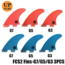 Surf Fins FCS 2 G3/G5/G7 Fins blue/red Honeycomb Fiberglass Fins Surf FCS II Surfboard Fin Free shipping upsurf logo free shipping 2016 high quality fcs ii fins with fiberglass honey comb material for surfing tri set g5 m fcs 2