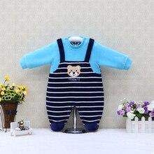 Girls Sleepwear One-Piece Rompers Q-Suits Newborn Clothing Baby Little Boys Button Velour