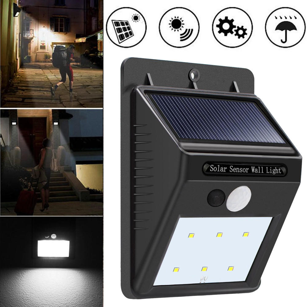 20LED Waterproof ABS Solar Powered Motion Sensor Lamp Outdoor Garden Fence Landscape Lamp Stair Yard Light Wall Lamp