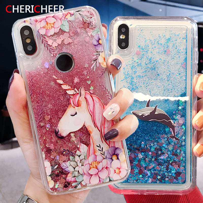 Silicone Liquid Case For Honor 8A 8C 8X 6C Pro Honor 10 9 8 Lite Glitter Quicksand Case For Huawei P30 Pro Lite P20 Lite Cover