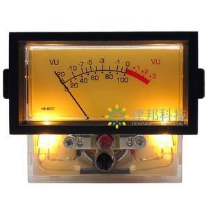 Высокоточный усилитель мощности VU с верхним выходом, измеритель уровня звука DAC, вольтметр, дБ, часы с подсветкой, с функцией подсветки