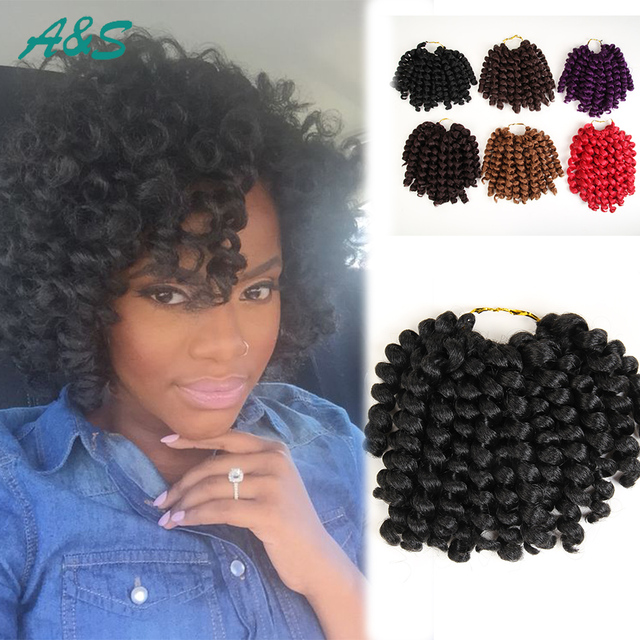 8 Bob Hairstyle Jumpy Wand Curl Twist Hairpiece Dreadlock