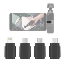 טלפון ממיר עבור DJI אוסמו כיס 2 כף יד Gimbal IOS USB C סוג C למייקרו USB מתאם אנדרואיד טלפון מחבר חלקי חילוף