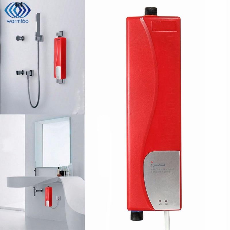 Instant Electric Water Heater Mini Bath Shower Heater Bathroom Kitchen Basin Sink Tap Faucet Au