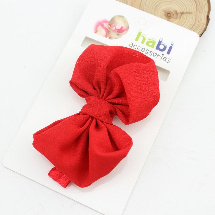 Детская повязка на голову, лента ручной работы, аксессуары для волос для малышей, новорожденных девочек, повязка с бантом Тюрбан-тиара - Цвет: Красный