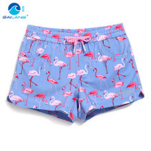 Lady board shorts swimming short swimsuits bird cartoon parttern sexy quick dry female running shorts joggers board shorts sweat(China)