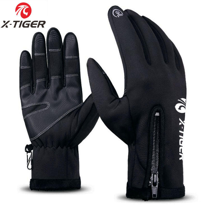 Full Finger Winter Thermal Warm Waterproof Gloves Cycling Anti-Skid Touch Screen