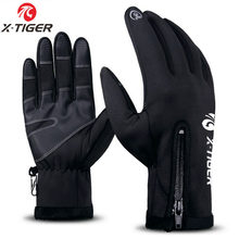 X-TIGER Winter Waterproof Windproof Cycling Gloves Touch Screen MTB Bike Gloves Thermal Warm Full Finger Anti-slip Bicycle Glove(China)
