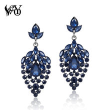 VEYO Crystal Drop Earrings for Women Luxury Rhinestone Earrings