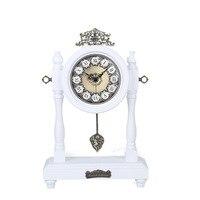 Туда годовой весна старинные деревянные часы маятник Европейский Корейский сад простой Гостиная Ультра тихий кварцевые часы