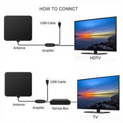 28-32 дБ 345*325*25 мм ТВ антенна 1080 P F мужчина 174 ~ 240 мГц и 470 ~ 862 мГц черный (антенны + адаптер + руководство + длинные усилитель)