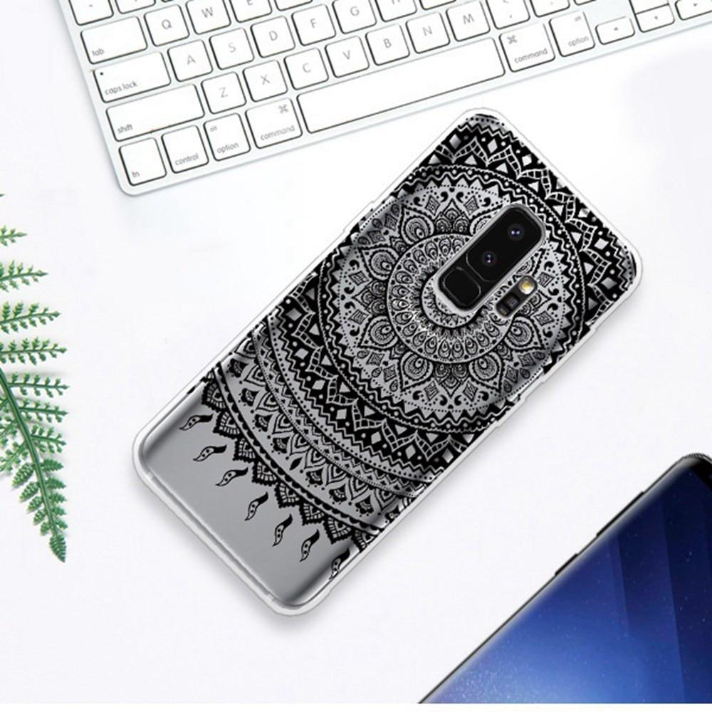 Utoper Mandala Flower Cases For Samsung Galaxy A8 2018 Case