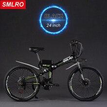 24 pulgadas plegable Rápida sonó 60 km max velocidad de 30 km/h bicicleta de montaña eléctrica 500 W de potencia del motor para caminar doble choque Ebike