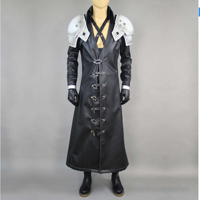 Final Fantasy 7 Sephiroth Cosplay Costume Full Suit Deluxe in Stock Custom Made