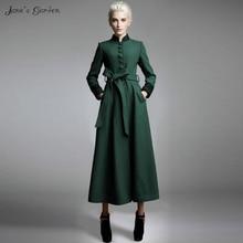 2017 autumn women woolen coat long slim wool coat winter long overcoat manteau femme abrigos mujer casaco feminino bayan mont