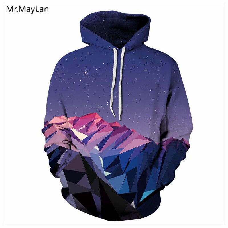 2018 Diseño Galaxy Space Mountain 3D Print Hombres / Mujeres - Ropa de hombre