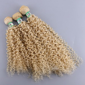 Color #613 70 g/pcs Afro kinky Curly hair Weave double weft synthetic hair extension