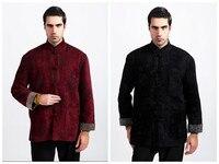 Lã de moda Estilo Chinês Borde masculina Dragão Kung Fu-Jaqueta Casaco M L XL XXL XXXL Frete Grátis 311-UM
