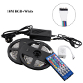 5050 SMD RGBW/RGBWW Flexible Led Strip Light 5M 60Leds/M IP65 Waterproof Strips Light+40 Keys IR Remote +5A Power Adapter