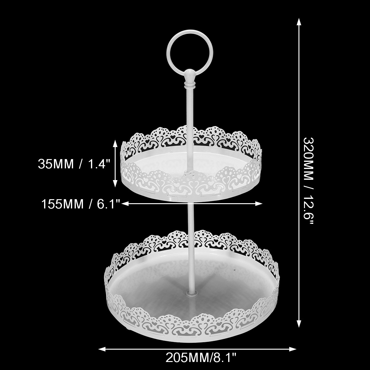 Vintage 2 Tiers Metal Cake Stand Plate Tray Jewelry Iron Display Holder Birthday Party Wedding Decoration Dessert Serving Rack-in Stands from Home \u0026 Garden ...  sc 1 st  AliExpress.com & Vintage 2 Tiers Metal Cake Stand Plate Tray Jewelry Iron Display ...