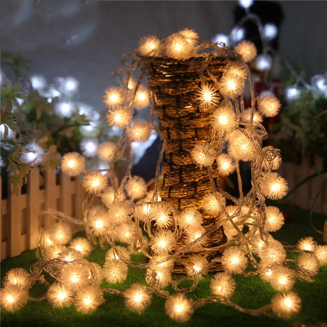 Romantic movie theme party decoration dandelion string lights romantic movie theme party decoration dandelion string lights colorful mini ball rope lighting patio ornaments long mozeypictures Image collections