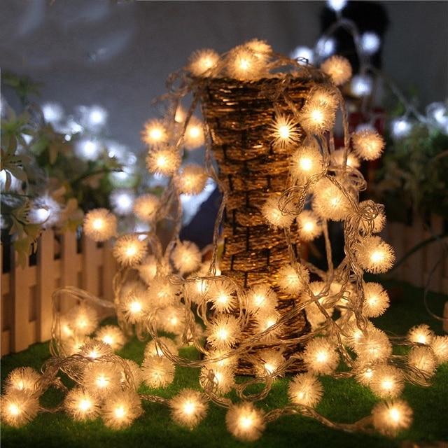 Romantic movie theme party decoration dandelion string lights romantic movie theme party decoration dandelion string lights colorful mini ball rope lighting patio ornaments long mozeypictures Images