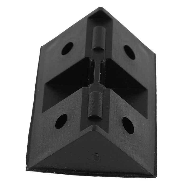 Пластиковый угловой шкаф Скоба скобки Черный 20 шт