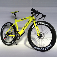 Colorful Road Bike Mountain Bikes 26 Inch Steel 21 Speed Bicycles Dual Disc Brakes Variable Speed