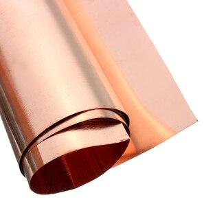 Image 5 - 1Pc 99.9% ทองแดงบริสุทธิ์ทองแดงแผ่นโลหะบางฟอยล์ม้วน0.1มม.* 100มม.* 100มม.