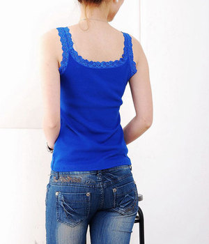 11 Colors 93% Cotton Women's Lace Camisole Japanese Style Basic Ladies Vest Bottoming Elastic Slim T-shirt JL-880 1