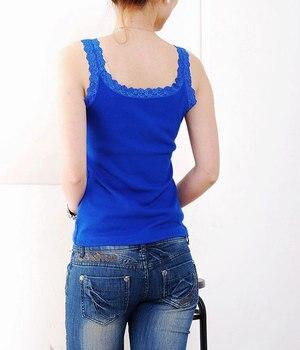 11 cores 93% algodão das mulheres camisola de renda estilo japonês básico senhoras colete fundo elástico fino t-shirt jl-880 1
