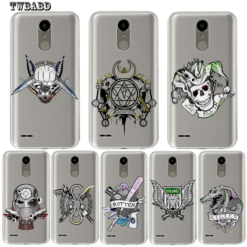 <font><b>Phone</b></font> <font><b>case</b></font> For LG G4 G5 G6 Q6 Q8 K4 K7 K8 <font><b>K10</b></font> 2017 X Screen Power 2 Soft silicone TPU Suicide Squad shell for LG U10