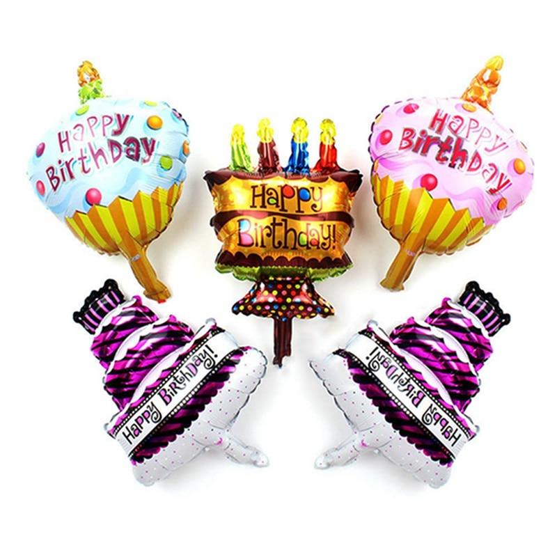 1 Pcs Mini Happy Birthday Cake Balls Chocolate Candy Air Globos Happy Birthday Toys For Kids Gifts