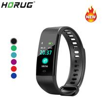 HORUG Smart Bracelet Fitness Tracker Color Screen Wristband Sport pedometer Instant Message Band Heart Rate Monitor