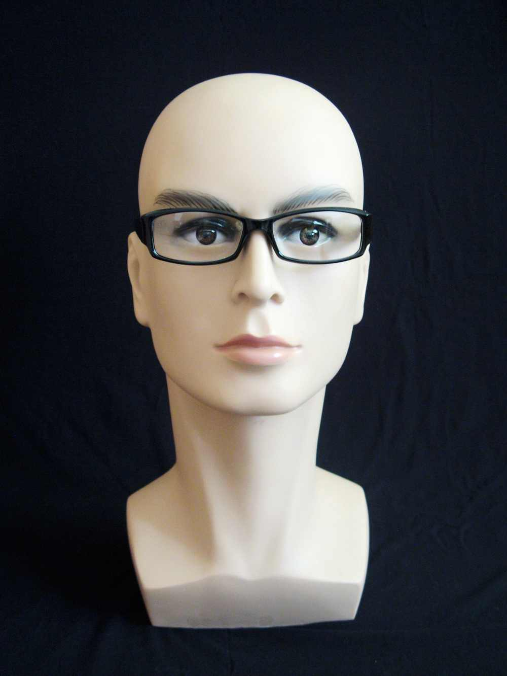 High Quality Realistic Plastic Male Mannequin Dummy Head For Hat Wig Sunglass Display,Manikin Heads
