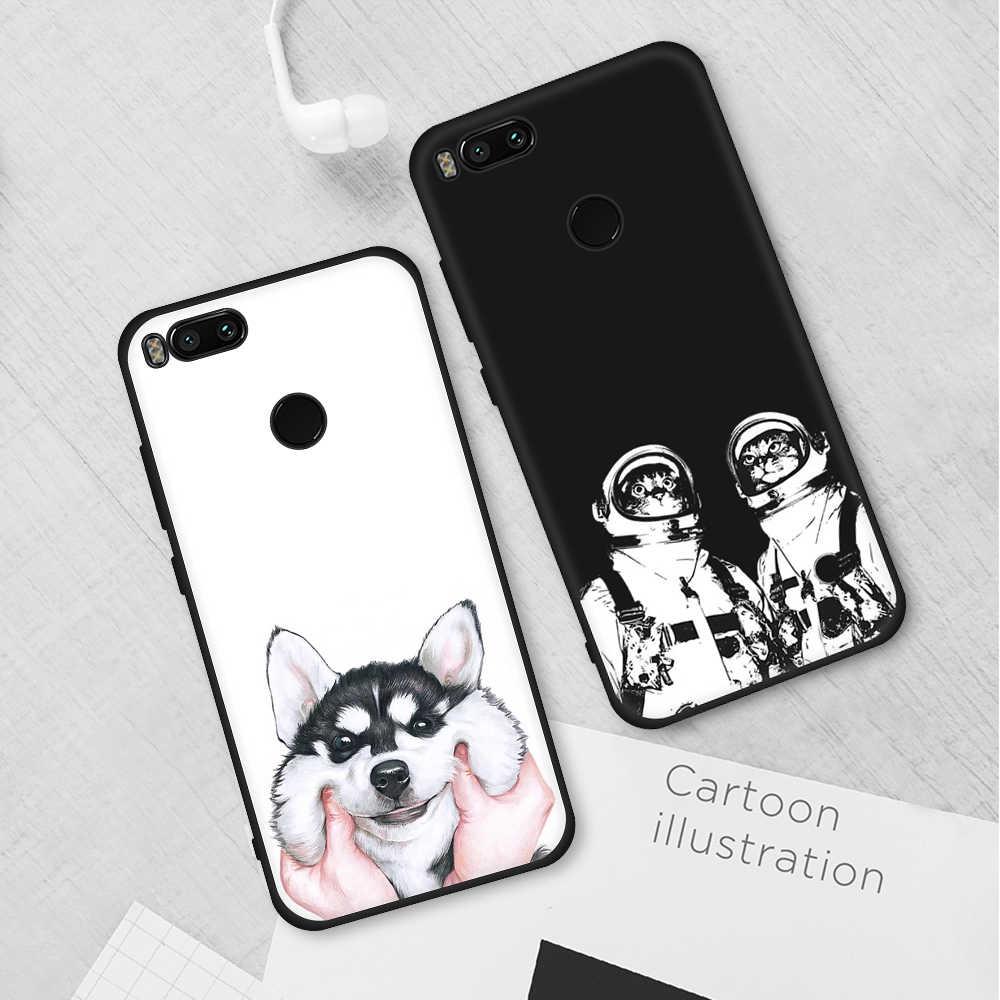 Hewan Dicat TPU Phone Case untuk Xiao Mi Pocophone Pocophone Mi 8 Se Mi A2 Lite A1 Silicone Protective Case merah Mi Note 5 Pro 6A 6 Cover