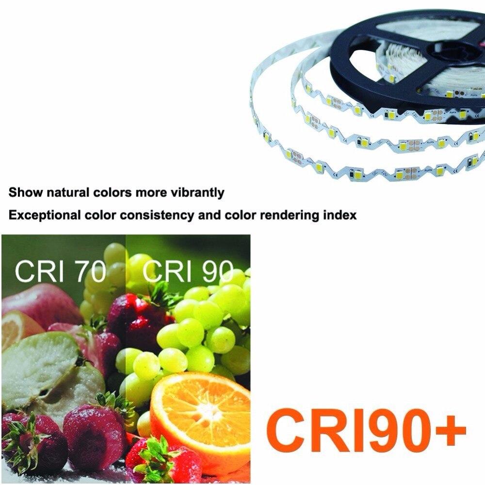 Бесплатная доставка DC12V 2.5 м (8.2ft) с 150 светодиодов высокой cri90 Светодиодные ленты свет 2835 Гибкая Светодиодные ленты 12 Вт/м чистый белый не водо...