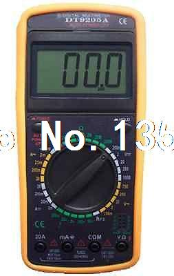 DT9205 Multifunction AC DC Voltmeter Ohmmeter Ammeter Multimeter Digital Meter victor vc9807a 4 1 2 ac dc resistance digital multimeters ammeter voltmeter ohmmeter conductivity capacitance frequency tester