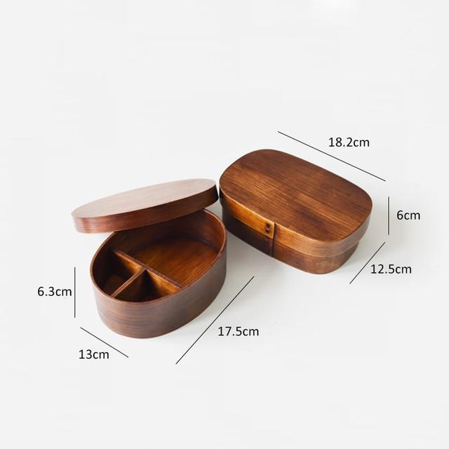 Bento en bois Style japonais 5