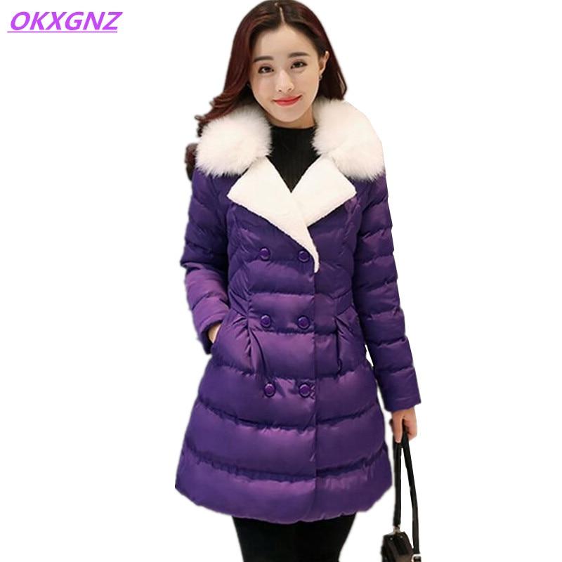 Chaqueta de abrigo de invierno 2017 corea stylenew okxgnz traje de capa de la ch