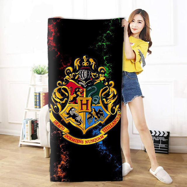 OHCOMICS 30*60cm/50*100cm/70*140cm Harri Potter HP Hogwarts School Travel Towel Swimming Soothing Cotton Face Bath Thin Towel