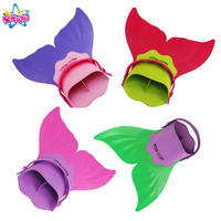NoEnName Free Shipping Girls Summer Swimming Mermaid Tail Monofin Flippers Real Swimming Mermaid Caudal Fin Costumes